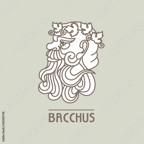 Bacchus. The God of wine. Vector logo. Wallpaper Mural