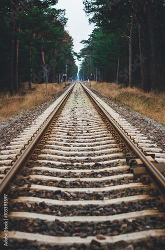 Papiers peints Voies ferrées railroad tracks