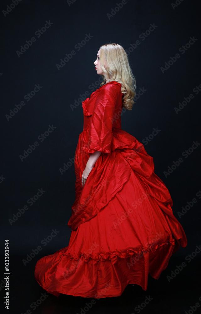 Photo Art Print Full Length Portrait Of A Beautiful Blonde Woman