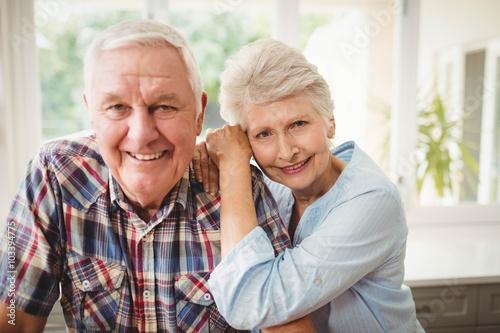 Portrait of senior couple Canvas Print