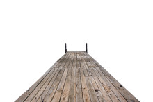 Wooden Pier Isolated On A White Background
