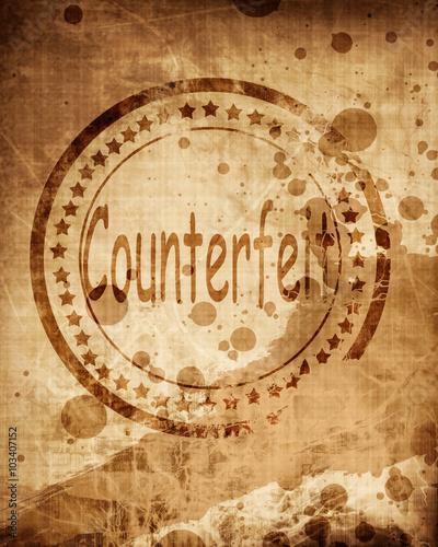Counterfeit stamp on grunge background Slika na platnu