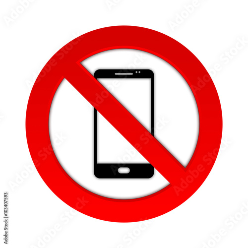 Fotografía  Telefonieren Verboten - Smartphone