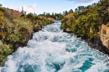 Wild Waters Of Huka Falls, New Zealand