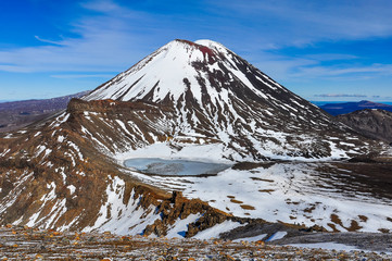 Mount Doom and the South Crater in the Tongariro National Park,