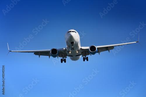 fototapeta na drzwi i meble Aeroplane approaching airport