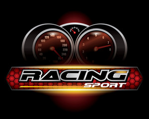 Fototapeta Formuła 1 RACING SPORT CONCEPT for LOGO DESIGN VECTOR