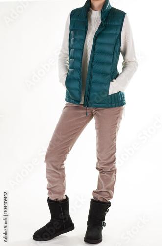 In de dag Kinderkamer Fashionable women's spring clothing.