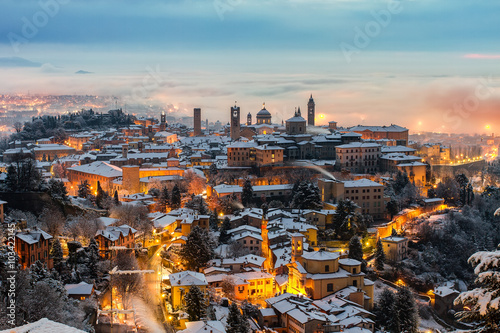 фотография Veduta di Città alta da San Vigilio Bergamo