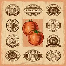 Vintage Tomato Stamps Set