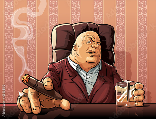 Mafia boss  Boss of a mafia clan Tablou Canvas