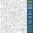 Business, school, travel set 500 black simple icons. Office, marketing, seo icon design for web and mobile.