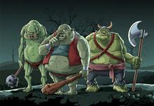 Big Trolls Stay On Night Forest