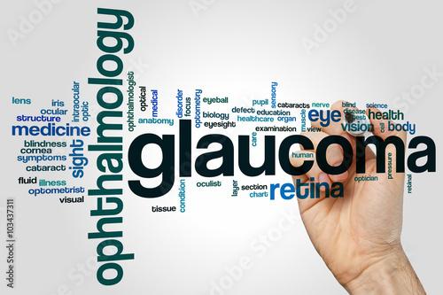 Fotografía  El glaucoma nube de palabras