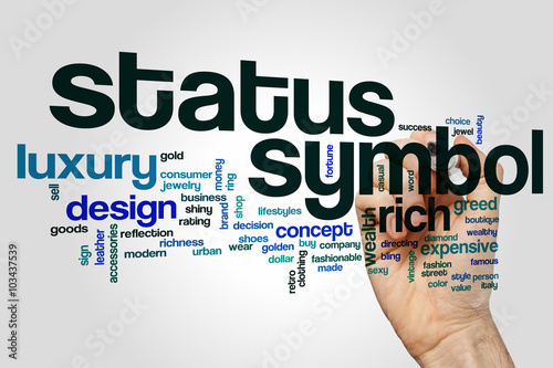 Status Symbol Word Cloud Concept Buy This Stock Photo And Explore