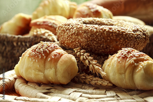 Deurstickers Bakkerij variety of bakery products
