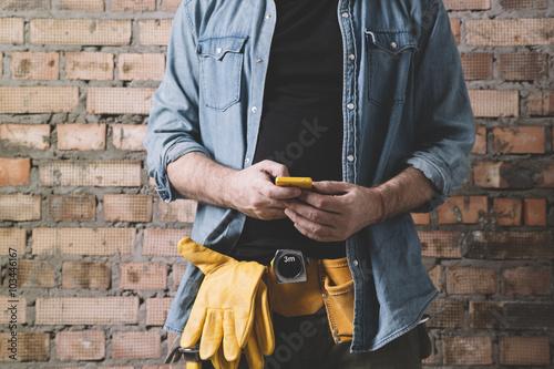 carpenter on the phone #103446167