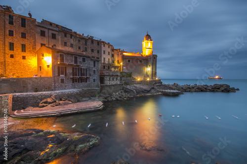 Nocne zdjęcie Tellaro,Liguria,Włochy