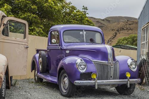 Deurstickers Oude auto s Oldtimer in Neuseeland