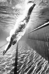 Fototapeta samoprzylepna Diving into the pool
