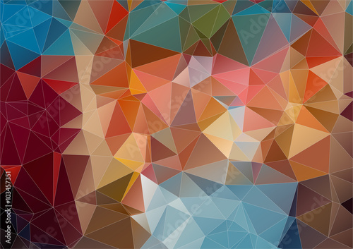 abstract background consisting of angular Canvas Print