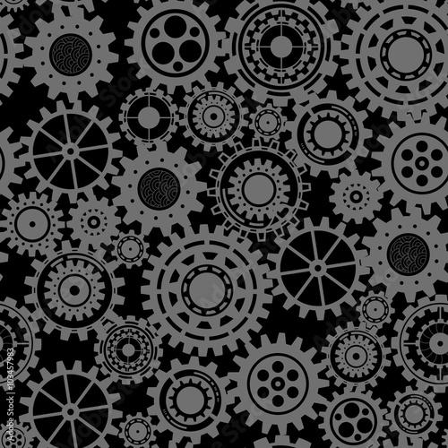 czarne-kola-zebate-wzor-steampunk
