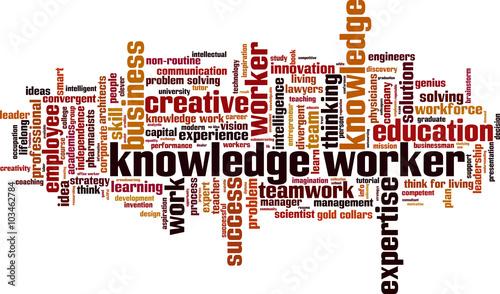 Fotografie, Obraz  Knowledge worker word cloud concept. Vector illustration
