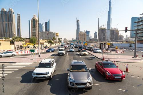 Poster Moyen-Orient Modern highway in Dubai