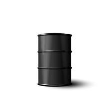 Black Metal Barrel Of Oil Isol...