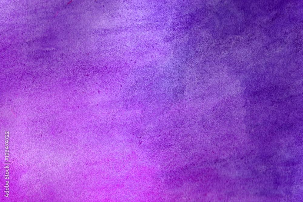 Fototapety, obrazy: Purple grunge in watercolor