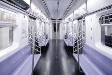 New York Subway Train Empty , ...