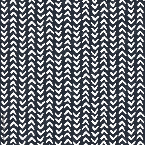 Monochrome seamless pattern, ink vector illustration, hipster texture, hand drawn motif. for wrapping, wallpaper, textile, cards, flyers, banners Wall mural