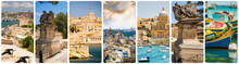 Collage Of Maltese Sights And Symbols