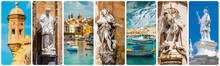 Collage Of Maltese Sights And ...