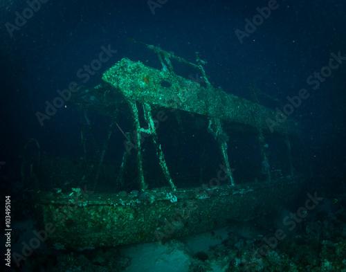 Spoed Foto op Canvas Schipbreuk Glassboat wreck