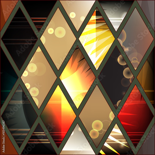 abstract stock vector seamless patchwork pattern. geometric desi