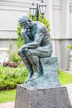 Sad Man Sculpture In European ...