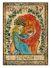 The Old Tarot Card. Strength