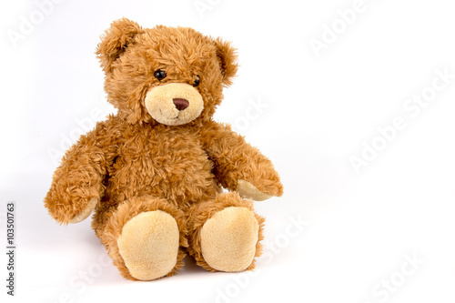 fototapeta na drzwi i meble Teddy bear on white background