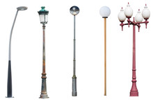 Street Light Poles Isolated On...