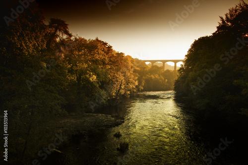 Fototapeta Pontcysyllte Aqueduct, World Heritage site in Wrexham