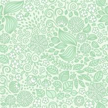 Floral Doodle Wallpaper Seamle...