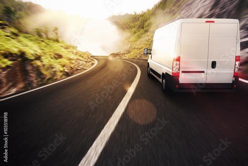 Plakat Ciężarówka transportowa