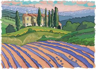 Panel Szklany Toskania Tuscany landscape, Italy