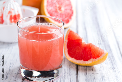 Fotoposter Sap Freshly Squeezed Grapefruit Juice