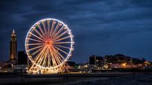 Big Wheel In De Evening In The City Of Le Havre In France