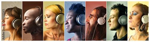 Papiers peints Magasin de musique The sound of music