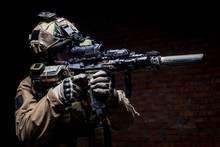 Spec Ops Soldier In Uniform Wi...