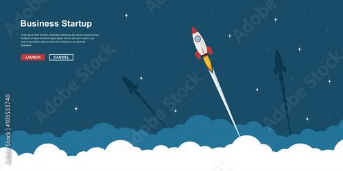 Fotografie, Obraz  business startup banner