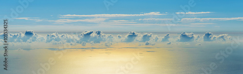 Canvas Prints Heaven Clouds above the sea